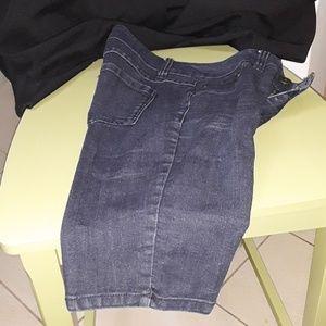 Blue Jean Long Shorts